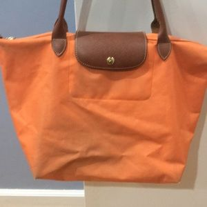 Longchamp large tote (orange)
